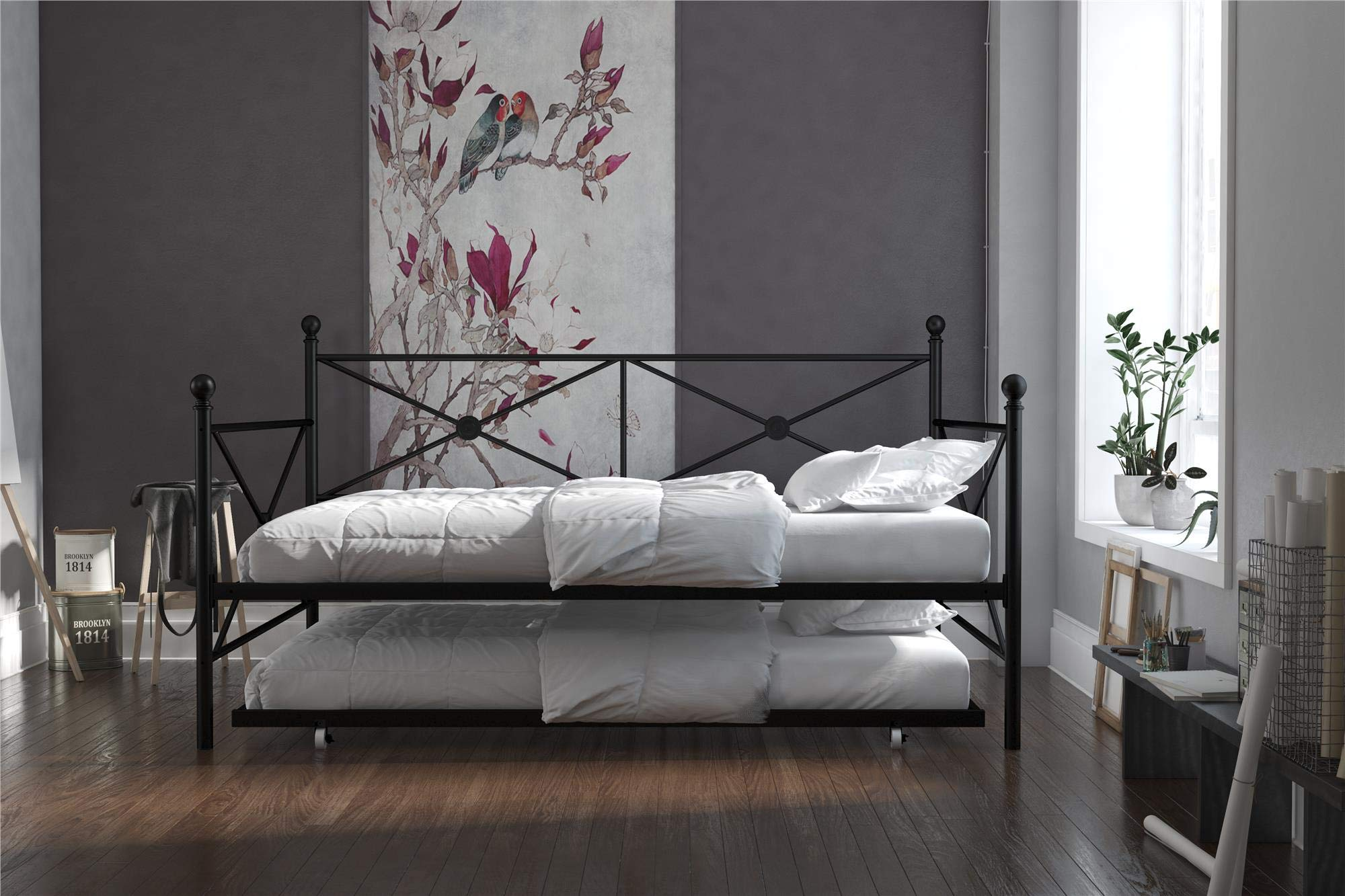 DHP Lina Daybed Trundle, Full, Black
