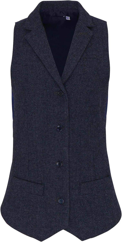 Premier PR626 Womens Herringbone Waistcoat Blank Plain