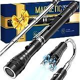 "Gifts for Men Dad,Magnet Tool Telescoping Magnetic Pickup Light,22"" Extending Magnet Stick Cool Tool Gadget for Men,Unique Bi"