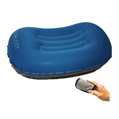 Trekology Ultralight Inflating Travel/Camping Pillows - Compressible, Compact, Inflatable, Comfortable, Ergonomic Pillow for Neck & Lumbar Support While Camp, Backpacking
