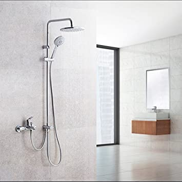Dusche Set Kupfer Wand Badezimmer Double Outlet Düse Aufstieg Drop ...