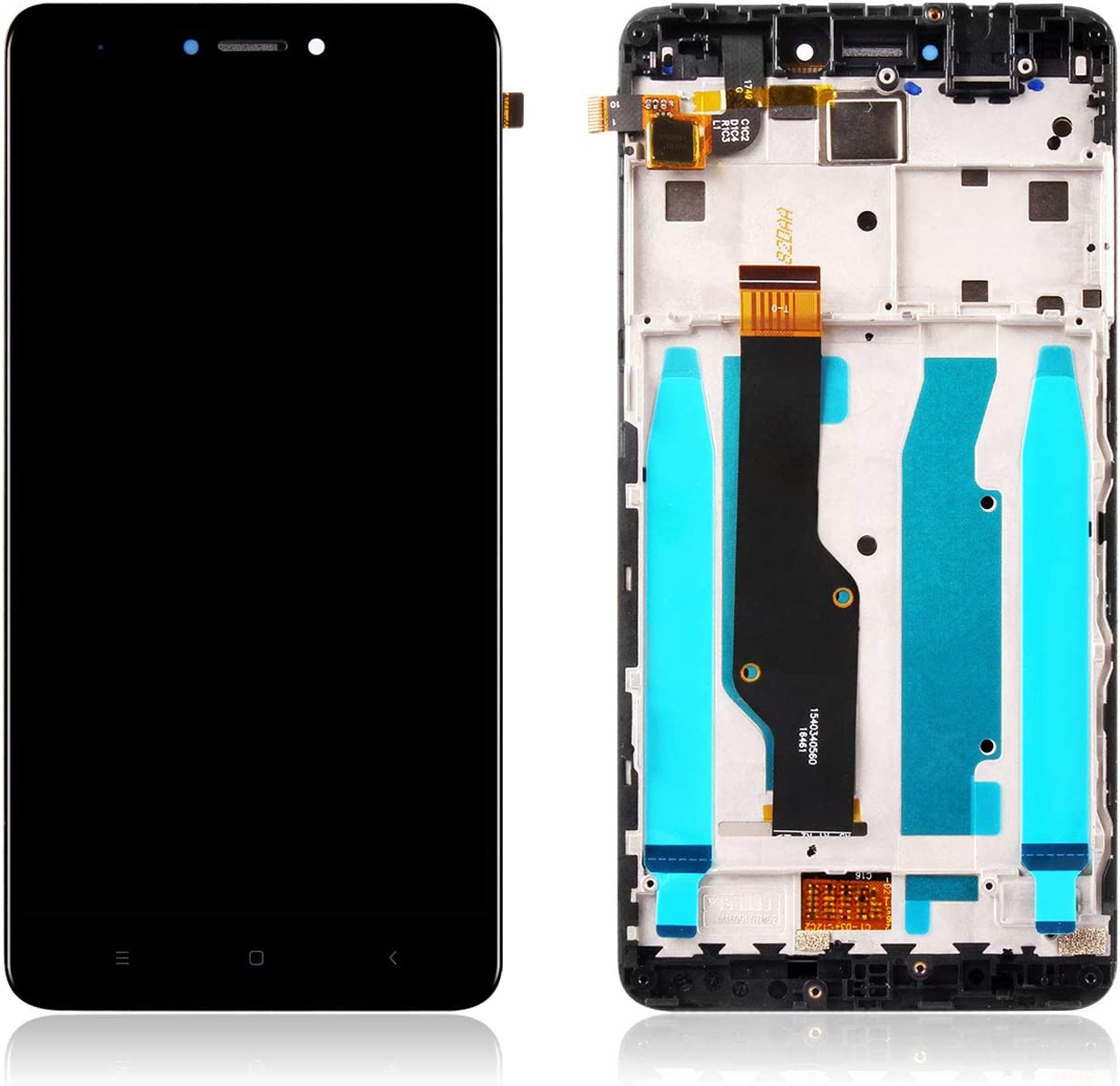 Color : White Mobile Phone LCD Screen LCD Screen and Digitizer Full Assembly with Frame for Xiaomi Redmi Note 4 Black LCD Screen