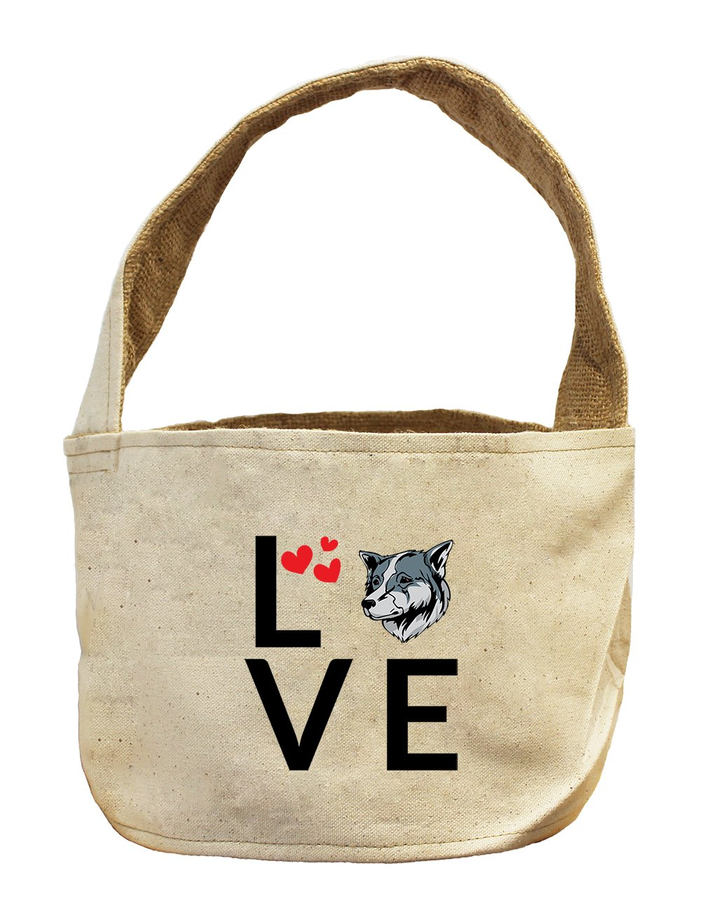 Style in Print Canvas And Burlap Storage Basket Love Hearts Thai Bangkaew Dogdog by Style in Print