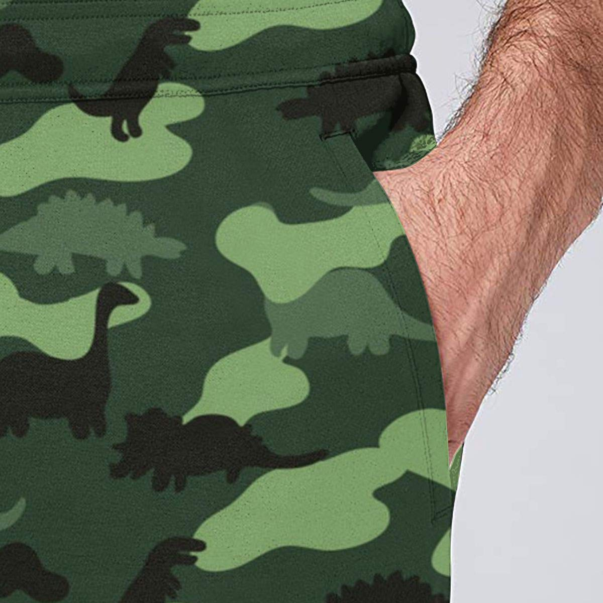 Panib Men Quick Dry Joggers Sweatpants Shadow of Dinosaur Sweatpants with Size S-3XL