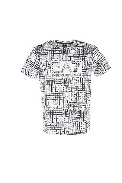 new style 11e38 6c8d6 Armani EA7 Maglia T-shirt Uomo Fantasia 3GPT65-PJB1Z-2107 ...