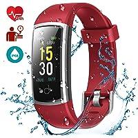 LATEC Fitness Tracker,Fitness Armband Wasserdicht IP68 mit Pulsmesser Smartwatch Fitness Uhr Aktivitätstracker Pulsuhren Schrittzaehler Uhr Smart Watch
