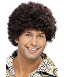 Brown disco wig for men