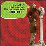 Funny Holiday IMproper Greeting Beverage Napkin-Fruitcake