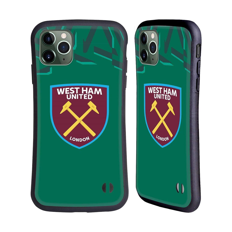 iPhone 8 Head Case Designs Ufficiale West Ham United FC Terza Maglia Portiere 2019//20 Kit Crest Cover Ibrida Compatibile con iPhone 7
