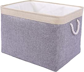 TheWarmHome Decorative Basket Rectangular Fabric Storage Bin Organizer Basket with Handles for Clothes Storage  sc 1 st  Amazon.com & Storage Containers | Amazon.com