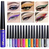 Matte Liquid Eyeliner Set, 16 Colors Matt & Metal Waterproof Highly Pigmented Eye Liner Pencil/Superstay Liquid…