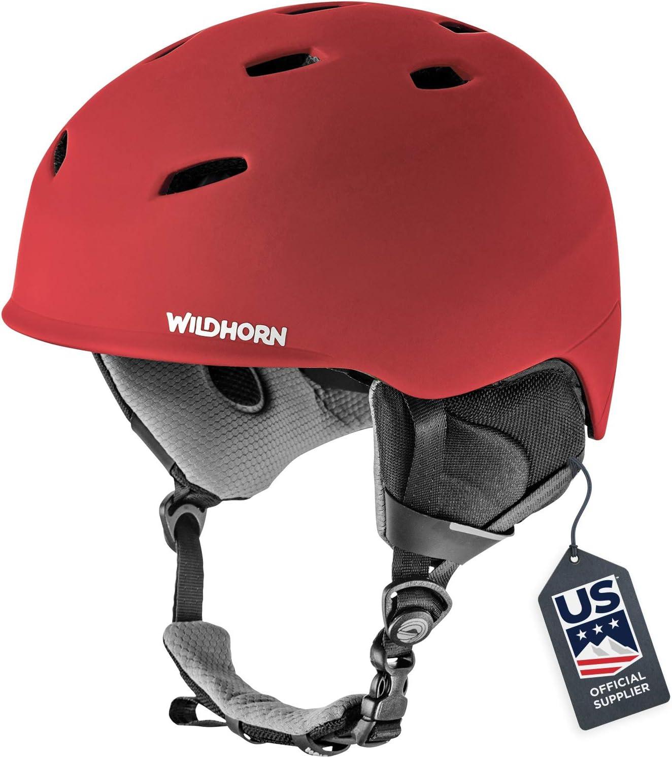 Amazon Com Wildhorn Drift Snowboard Ski Helmet Us Ski Team Official Supplier Performance Safety W Active Ventilation Sports Outdoors