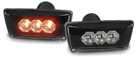 Carparts-Online 28572 LED Seitenblinker Klarglas schwarz