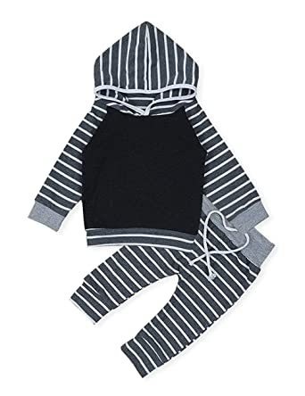 f3cf0550d465 Amazon.com  Viworld Baby Girls Boys Clothes Infant Baby Gray and ...