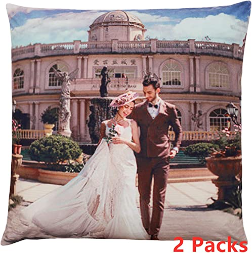 Customized Pillow with Picture Including Pillow Insertion Design for Your Own Photo Print Soft and Comfortable to Enjoy Deep Sleep 24 X 24 2 Packs