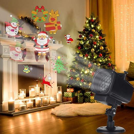 Luces De Navidad Para Proyectores, 12 Patrones Proyector De Copo ...