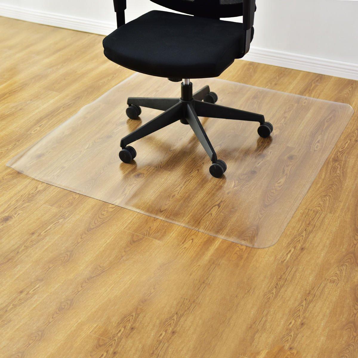 Azadx PVC Desk Chair Mat, Dull Polish Chairmat Protection Floor Mat for Hard Floor Use,Multi-Purpose 0.15cm Floor Protector,Transparent (48'' X 59'' Mat)