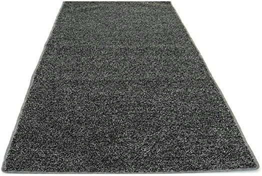 BEAULIEU 12 x10 Gray Indoor Outdoor Artificial Turf Grass Carpet Rug with A Marine Backing