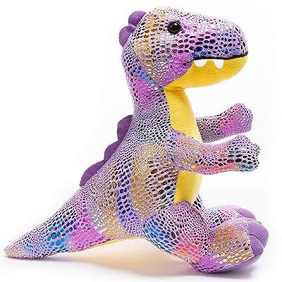 HollyHOME Plush T-Rex Dinosaur Cute Stuffed Animal Toy Kids Gift Purple 10 Inch: Toys & Games