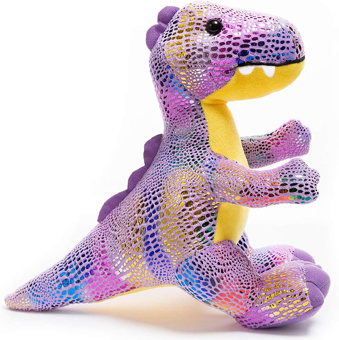HollyHOME Plush T-Rex Dinosaur Cute Stuffed Animal Toy Kids Gift Purple 10 Inch