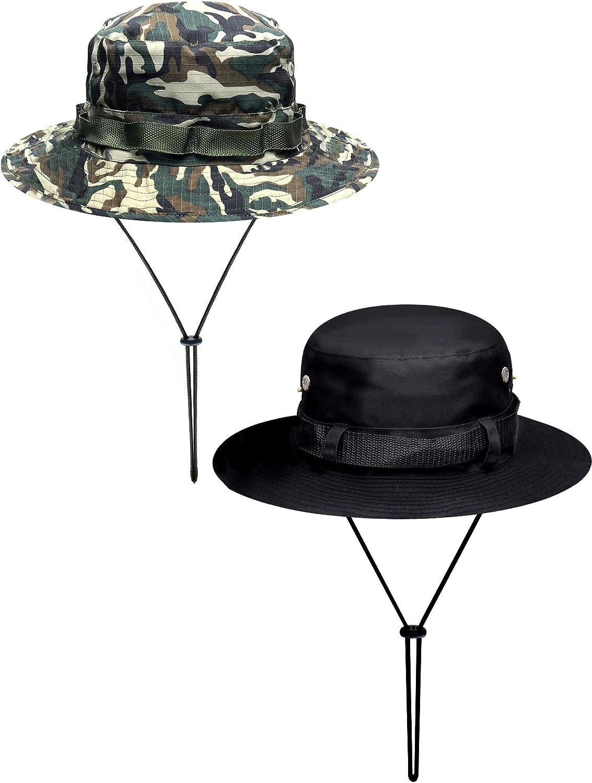 Boao 2 Piezas Sombrero de Safari de Algodón Gorra de Pescado con ...