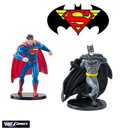 c42f210a55 Amazon.com  Warner Bros Dc Comics Superman and Batman Figurines 2.75 ...