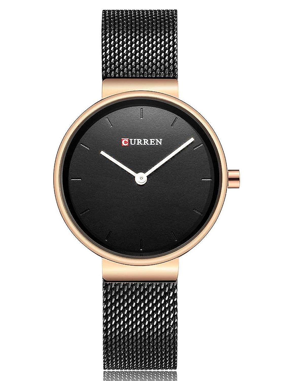 Fashion Simple Women s Quartz Watch Stainless Steel Mesh Strap Business Wrist Watch Curren