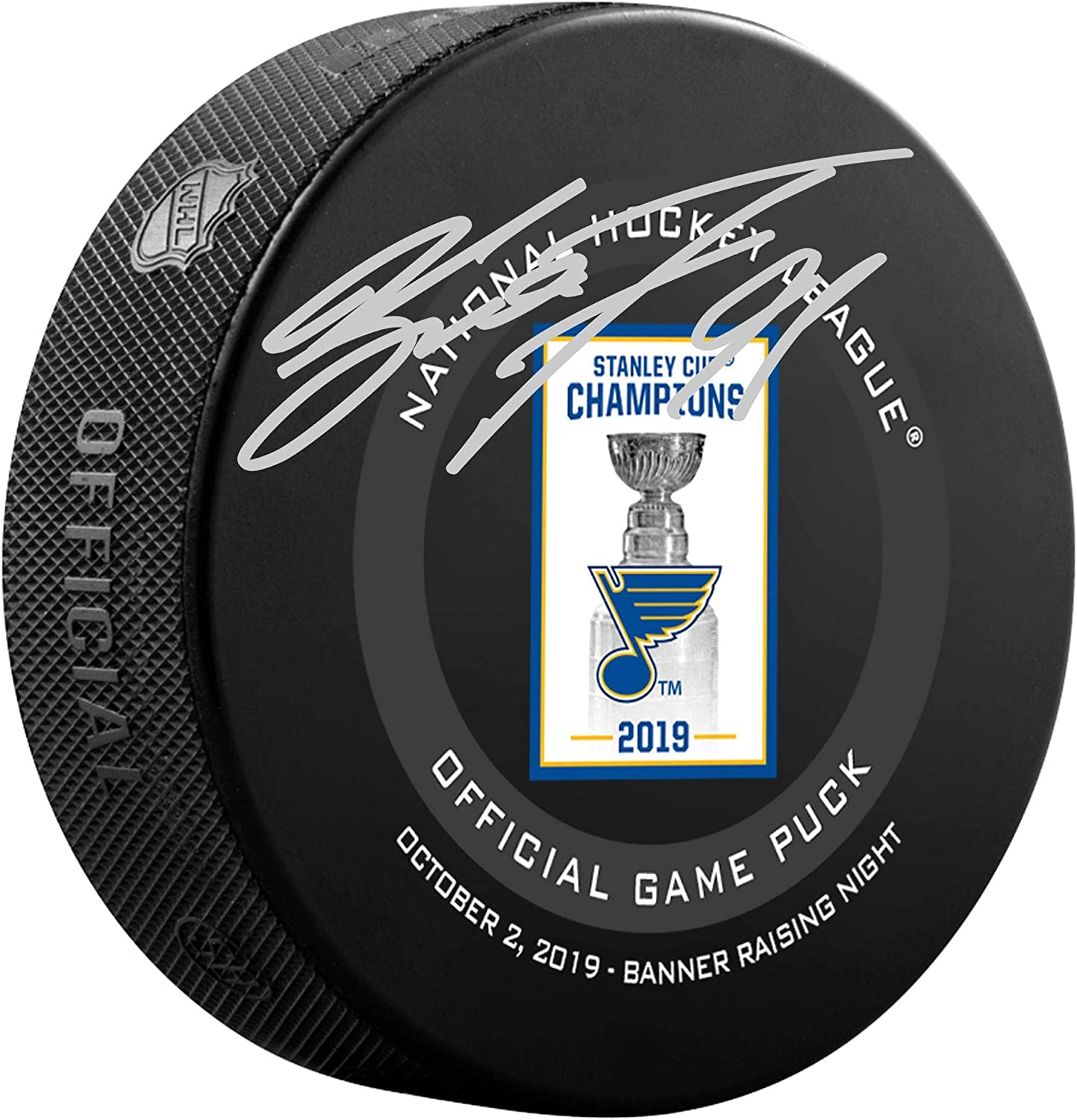 Fanatics Authentic Certified 2019 Stanley Cup Championship Banner Raising Official Game Puck Vladimir Tarasenko St Louis Blues Autographed October 2