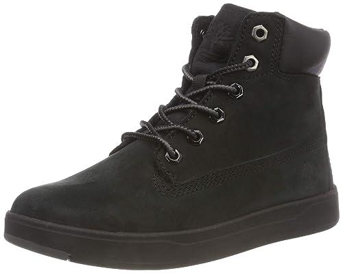 7efb05087d Timberland Unisex Kids  Davis Square 6 Inch Classic Boots Black (Blackout  Naturebuck) 1