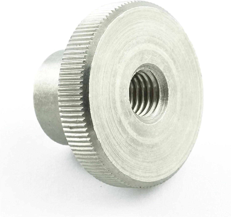 5 St/ück - R/ändel-Mutter DIN 466 M6 R/ändelmuttern hohe Form rostfrei Eisenwaren2000 Edelstahl A1 1.4305