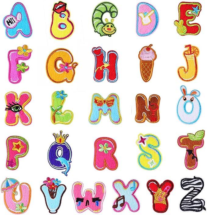 26 coloridas letras del alfabeto A-ZLovely Animal parche para ...