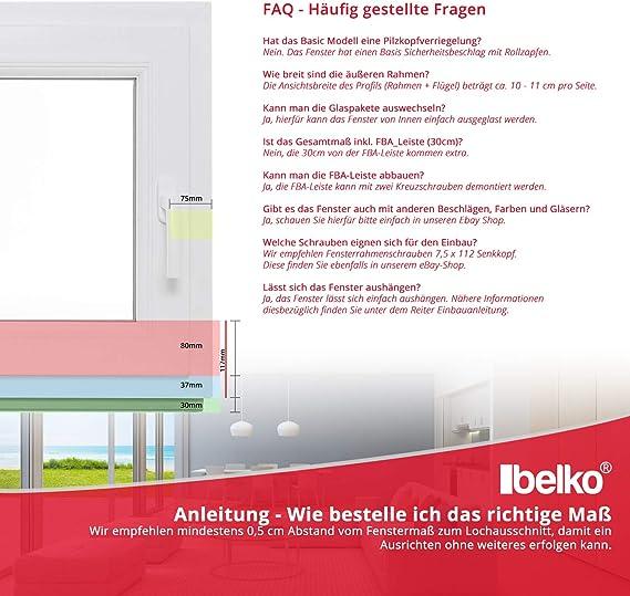 3-fach-Verglasung Dreh-Kipp-Funktion Premium Breite: 100 cm x H/öhe: Alle Gr/ö/ßen BxH: 100x85 cm DIN Rechts Kunststofffenster Kellerfenster Fenster Wei/ß