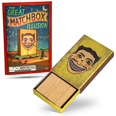 Magic Makers The Match Box Penetration Magic Trick: Toys & Games