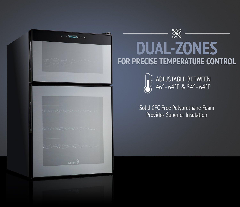 Amazon.com: Ivation Dual Zone - Enfriadora termoeléctrica ...