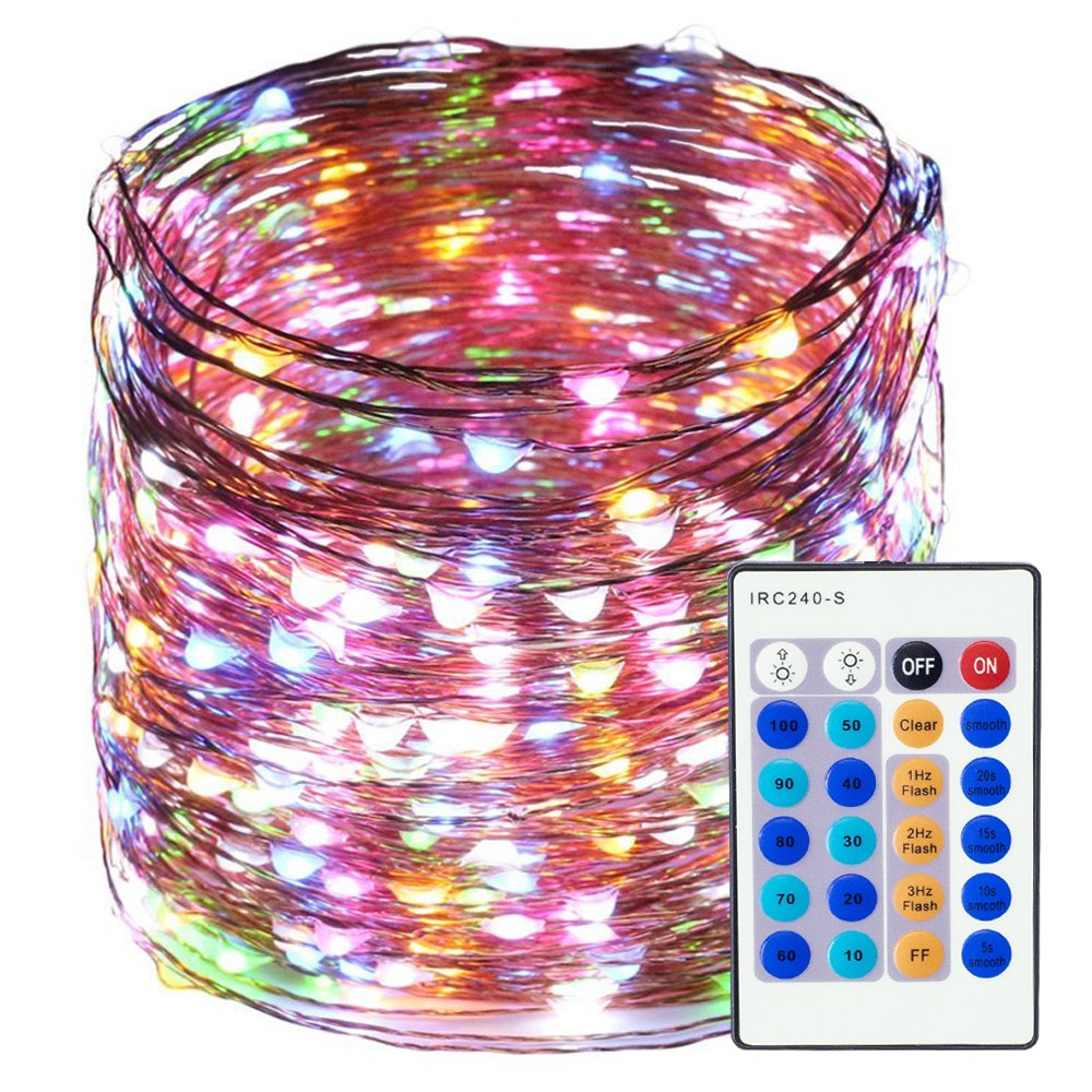 LED String Lights 99ft 300 LEDS Waterproof Copper Wire Fairy Light Twinkle Decorative Lighting for Christmas Tree,Festival Holiday,Birthday Party,Garden,Wedding,Indoor& Outdoor,Home,Patio (Warm white) Freall