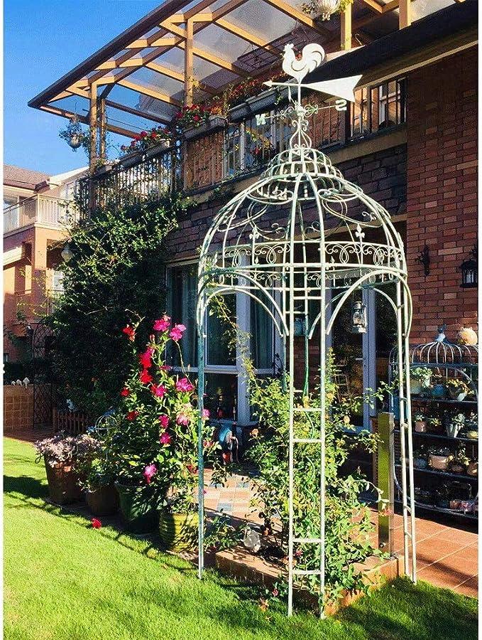 GAIGAI - Gazebo de alta resistencia retro, estilo francés, pérgola, pérgola, pérgola, pérgola, arco, arbor, plantas, soporte para bodas, jardín, patio, escalada ...