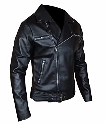 f045095a0 Skyseller-uk The Walking Dead Negan Jeffrey Dean Morgan Black Synthetic  Leather Jacket