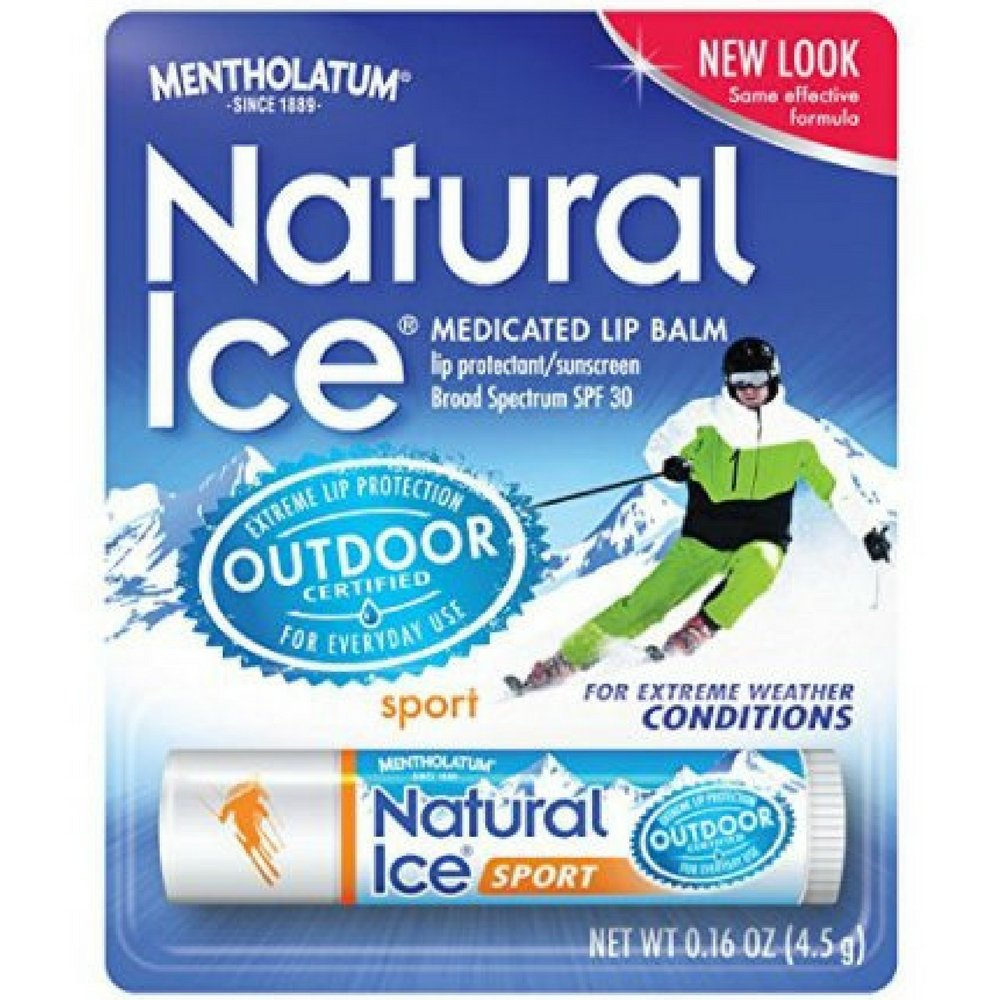 Mentholatum Natural Ice Sunscreen/Lip Protectant SPF 30 Sport 1 Each ( Pack of 48)