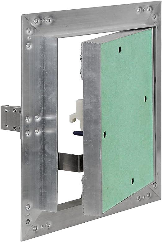 Puerta revisión Trampilla inspección marco aluminio 30x30cm Panel acceso Yeso 12,5 mm Techo Pared: Amazon.es: Oficina y papelería