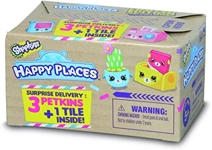 **15**SHOPKINS HAPPY PLACES LIMITED EDITION BLIND BOX SET 3 PETKINS /& 1 TILE