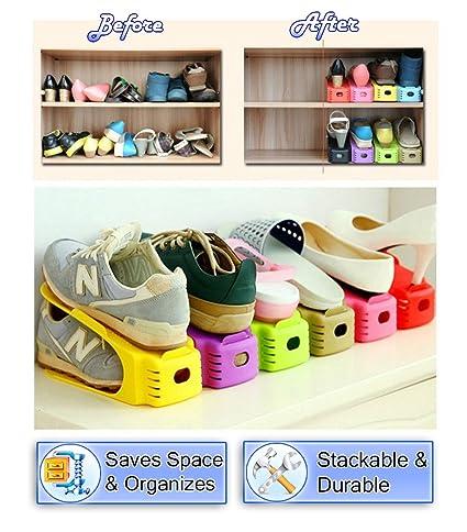5starsuperdeals Shoe Storage Slot Closet Organizer Space Saver Rack Shoe  Storage, Colorful Shoes Slot Holder
