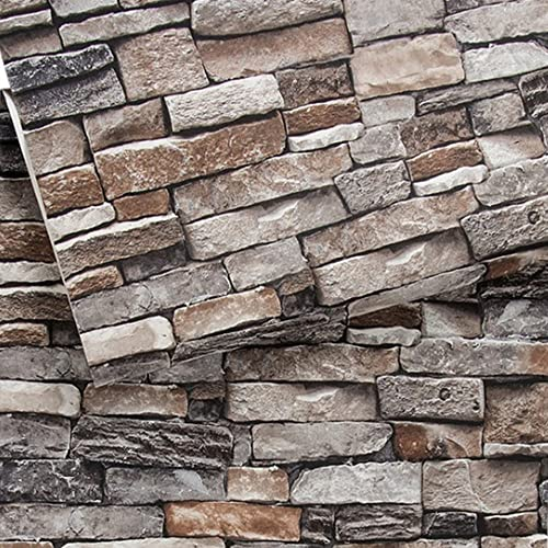 Textured Wallpaper For Bathrooms 2017: Faux Stone Wall Covering: Amazon.com