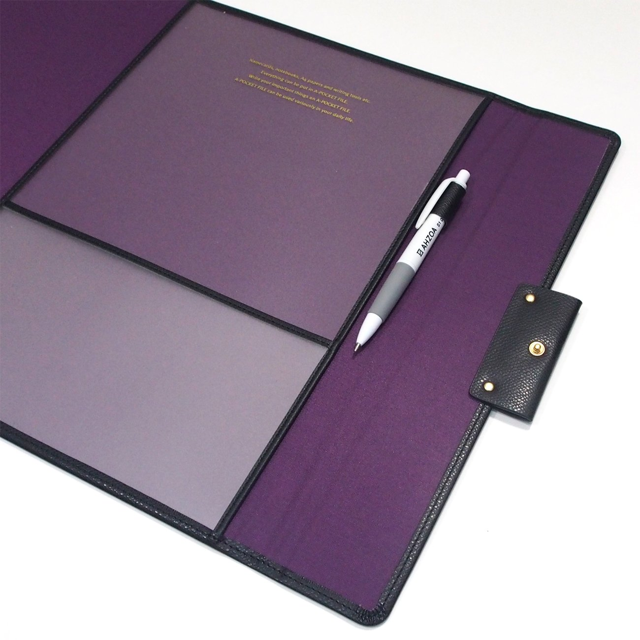 Grand Classy 8 Pockets File Holder with AHZOA Pencil (black) by Monopoly (Image #5)