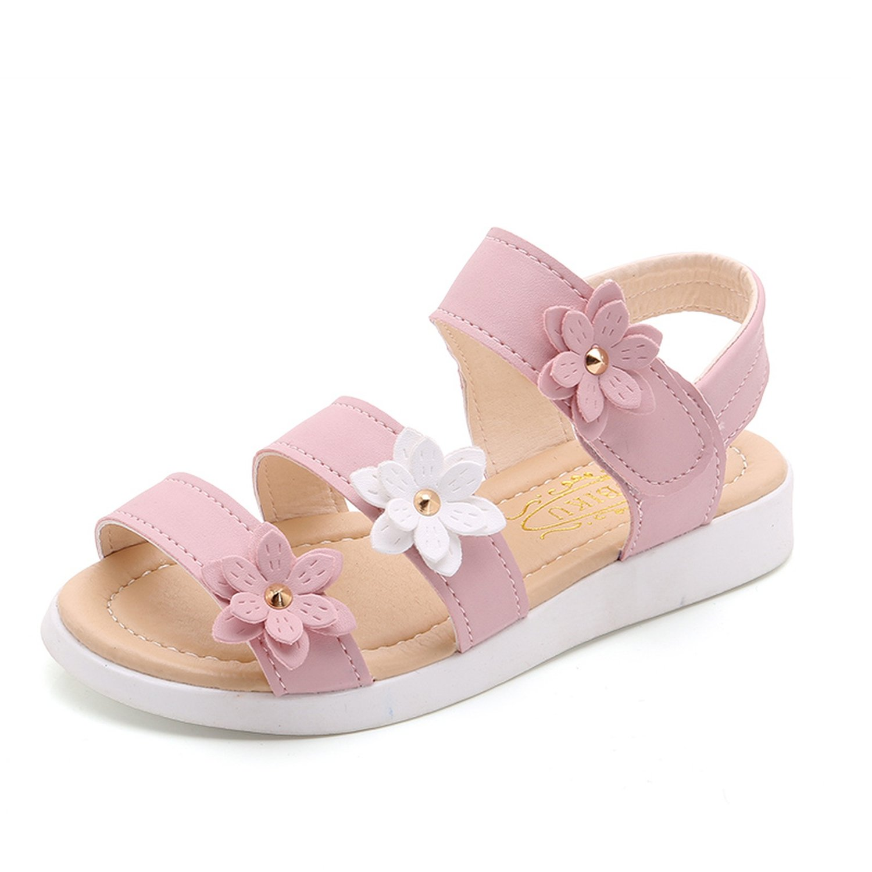 Kinggolder Girls Sandals Girl Flower Princess Sandals Pink 3.5