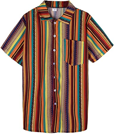 Overdose Camisas Hombre Rayas de Verano Hawaiana Fiesta Estampados de Playa Blusa Años 70 Retro Camisetas Hombres La Solapa Oferta: Amazon.es: Ropa y accesorios