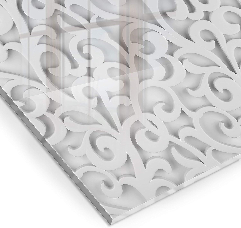 murando Protection de Verre de Cuisine Plaque de Protection en Verre Tremp/é Tableau D/écoratif Design 60x60cm carrelage Mosa/ïquea f-B-0288-aq-a