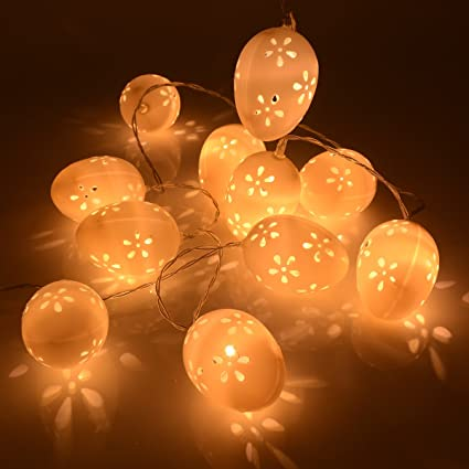 Outdoor Easter Lights Amazon gardeningwill easter 10ft 30led battery operated string gardeningwill easter 10ft 30led battery operated string egg lights party charistmas home garden yard decoration workwithnaturefo
