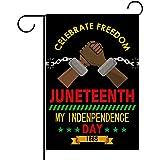 Rainlemon Linen Juneteenth Garden Flag Africa America Independence Day Yard Outdoor Decoration