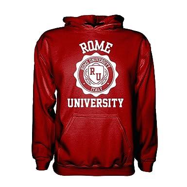 288dda7c9 Rome University Hoodie Burgundy/White - Medium: Amazon.co.uk: Clothing