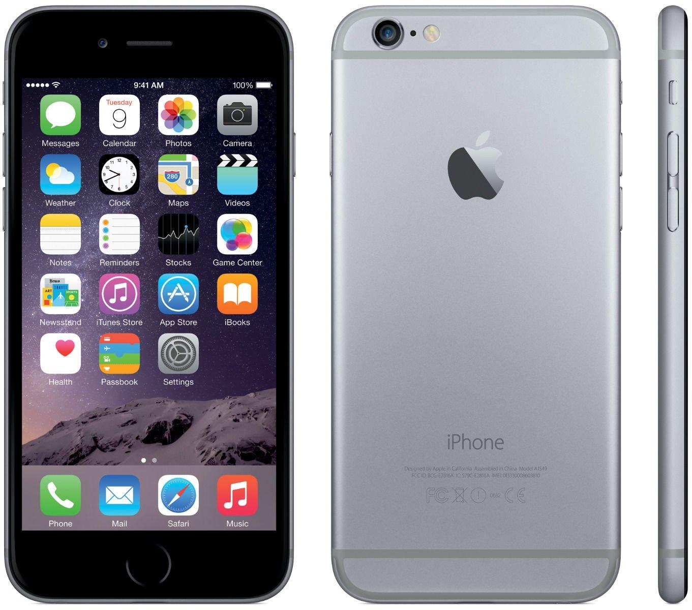 Apple iPhone 6, GSM Unlocked, 16GB - Space Gray (Renewed) by Apple (Image #1)